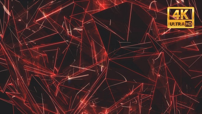 Abstract Red Geometric Moving Panel: Stock Motion Graphics