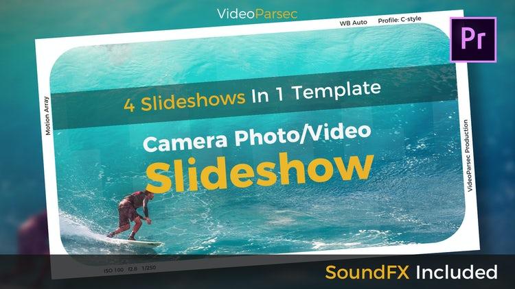 Camera Photo/Video Slideshow: Premiere Pro Templates