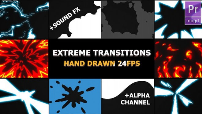 Flash FX Extreme Transitions: Motion Graphics Templates