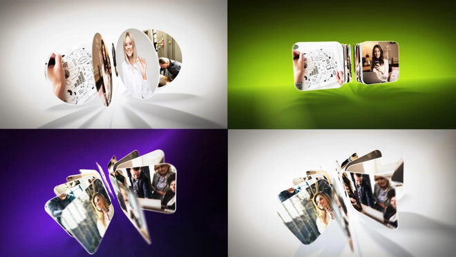 Rotating Flip Logo Reveals: After Effects Templates