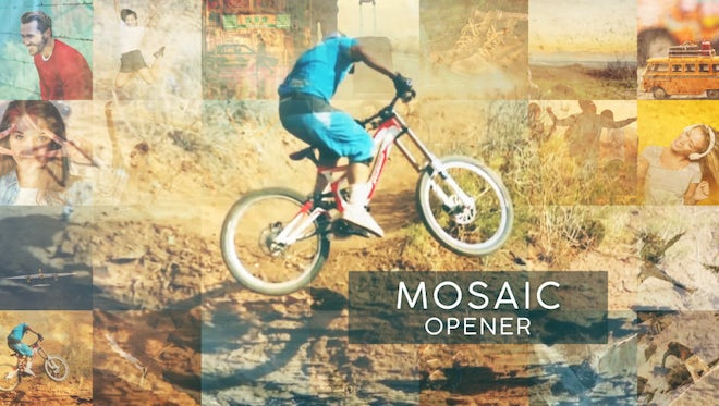 Mosaic Opener: After Effects Templates