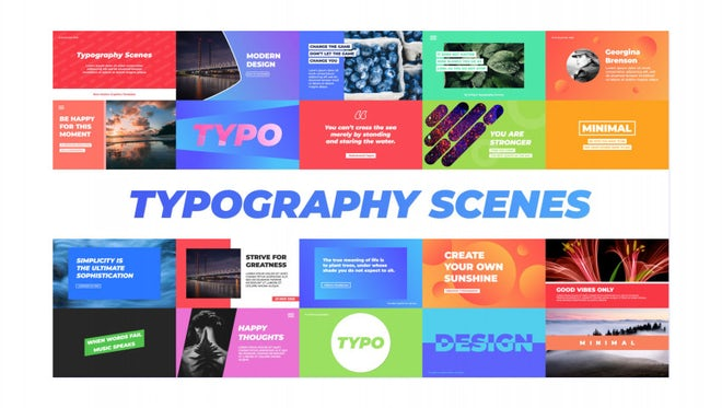 Typography Scenes: Motion Graphics Templates