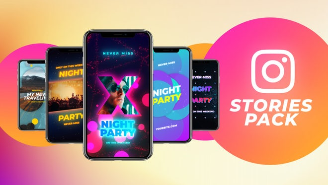 Instagram Stories Pack 10: Motion Graphics Templates