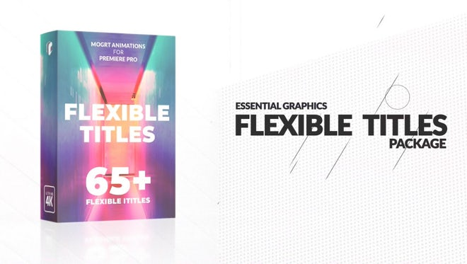 Flexible Titles Package: Motion Graphics Templates