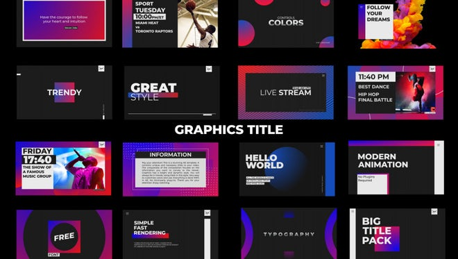Graphics Title: After Effects Templates