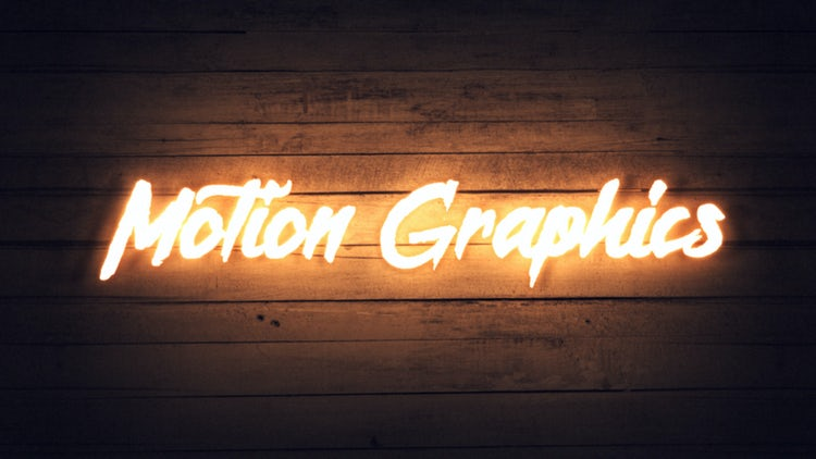 Neon Sign Title: Motion Graphics Templates