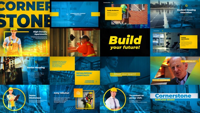 Construction Company Portfolio: After Effects Templates