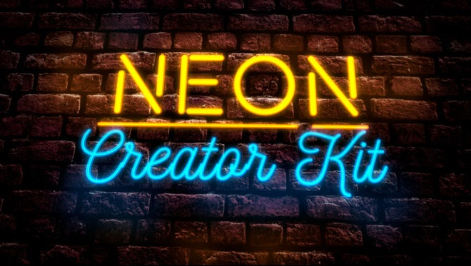 Neon Sign Creator Kit: Motion Graphics Templates