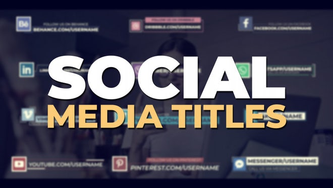 Social Media Titles: Motion Graphics Templates