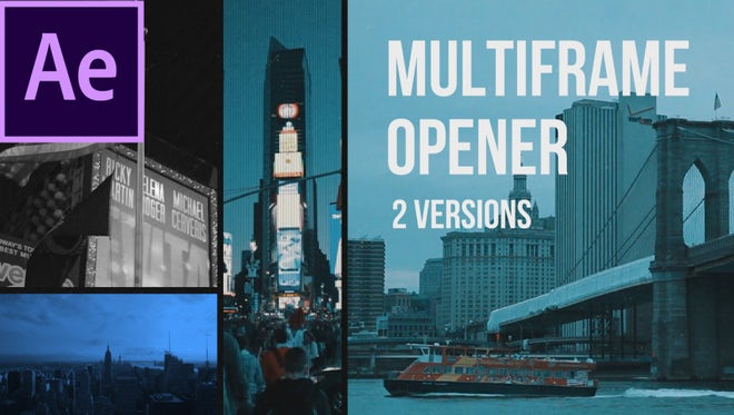 Multiframe Media Opener: After Effects Templates
