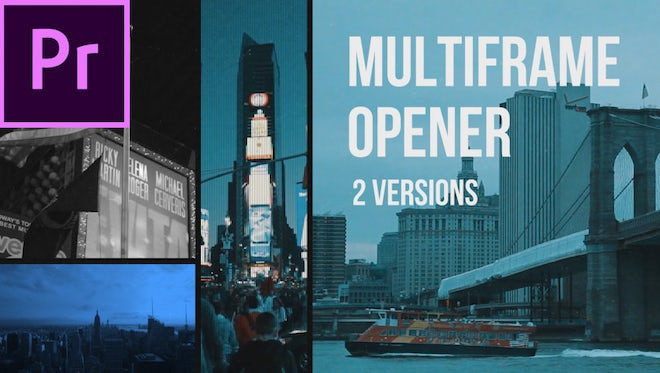 Multiframe Media Opener: Premiere Pro Templates