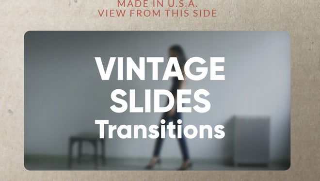 Vintage Slides Transitions: Premiere Pro Templates
