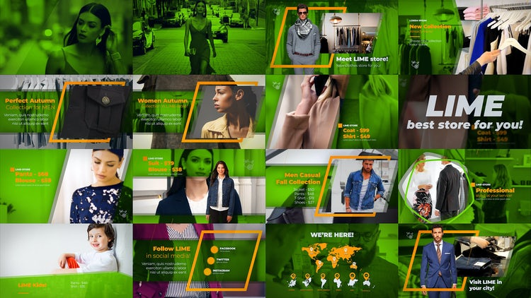 Fashion Clothes Shop: After Effects Templates