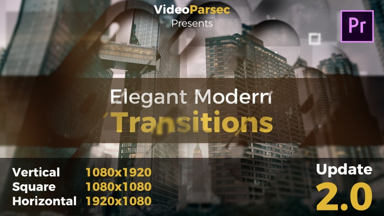 Elegant Modern Transitions: Premiere Pro Templates