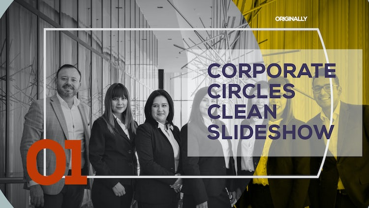 Corporate Circles Clean Slideshow: After Effects Templates