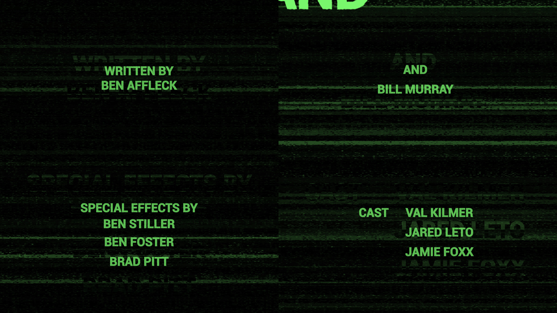 glitch credits after effects templates motion array