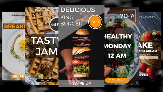 New Food Stories: After Effects Templates