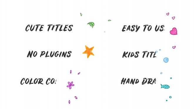 Kids Hand Drawn Titles: After Effects Templates