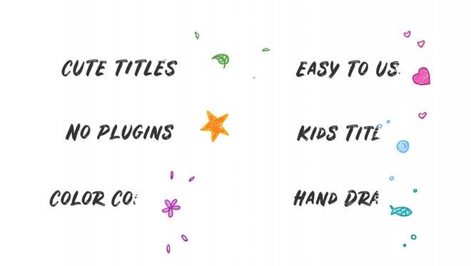 Kids Hand Drawn Titles: Premiere Pro Templates
