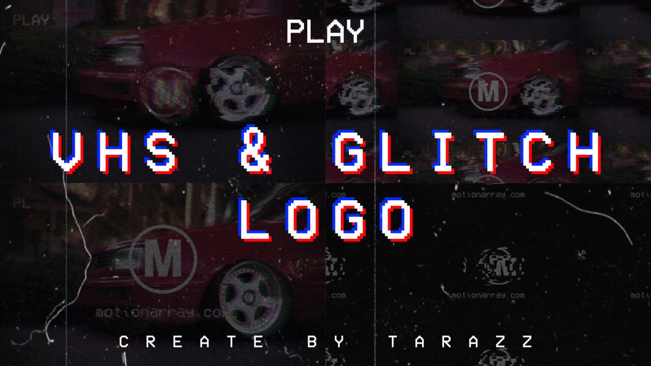VHS & Glitch Logo 138539 + Music