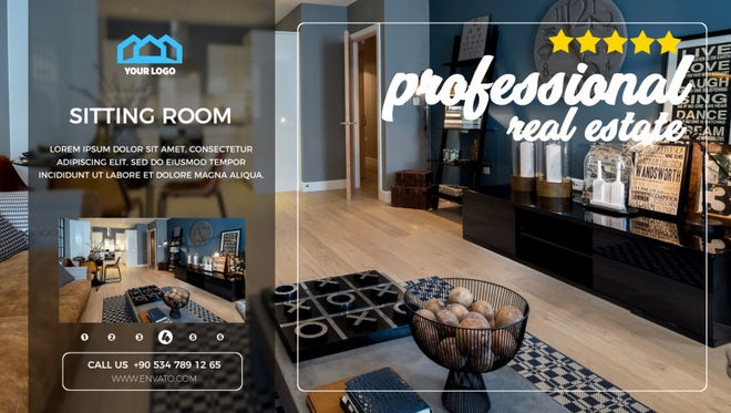 Professional Real Estate Promo: After Effects Templates