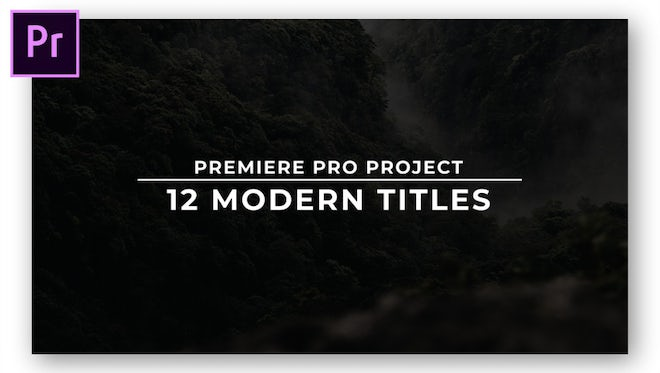 12 Modern Titles: Motion Graphics Templates