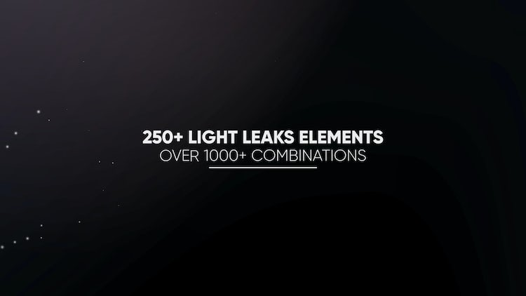 Light Leaks Constructor - 250+ Elements: After Effects Presets