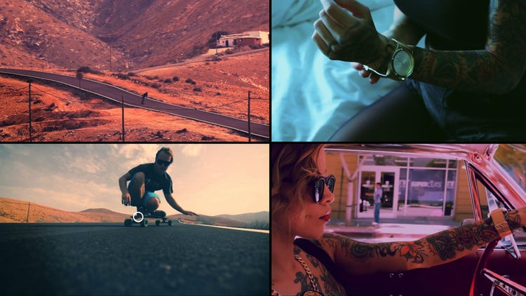 Mulitiframe Slideshow: Premiere Pro Templates