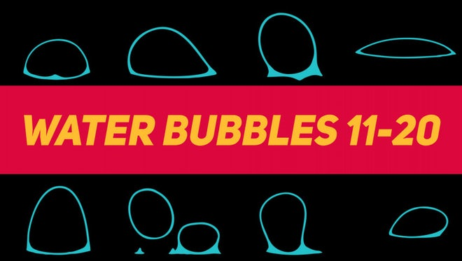 Liquid Elements Water Bubbles 11-20: Stock Motion Graphics
