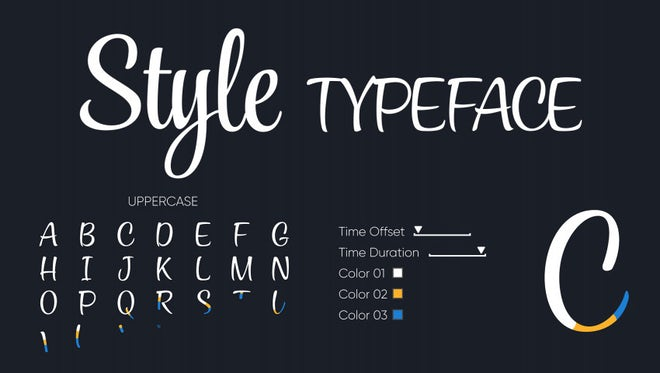Style - Animated Typeface: Motion Graphics Templates