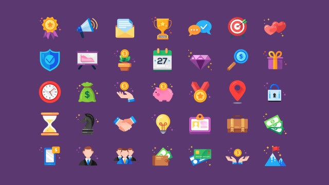 35 Animated Business Icons: After Effects Templates