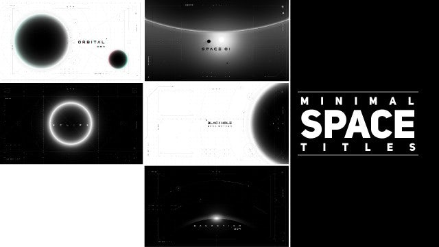 Minimal Space Titles: Motion Graphics Templates