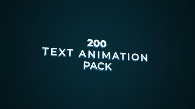 10 Free After Effects Text Presets After Effects Presets Motion