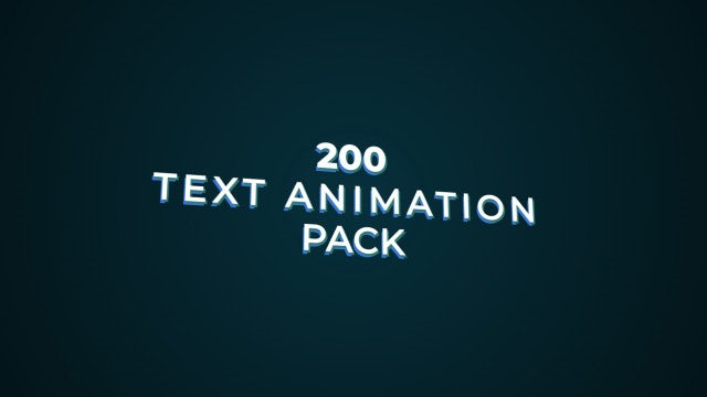 200 Text Animation Pack: After Effects Presets