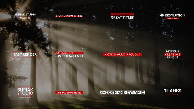 Professional Titles 4k: After Effects Templates