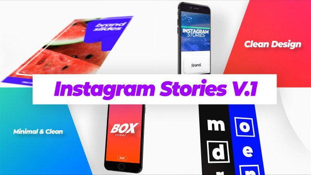 Modern Instagram Stories V.1: After Effects Templates