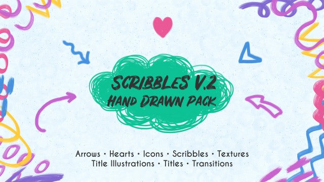 Scribbles v.2. Hand Drawn Pack: Premiere Pro Templates