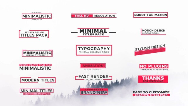Animation Titles II: Motion Graphics Templates