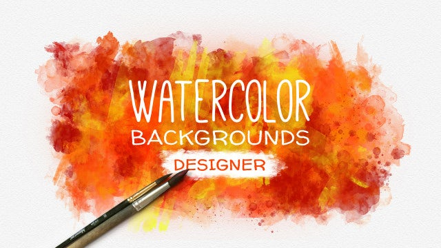 Watercolor Background Designer: After Effects Templates