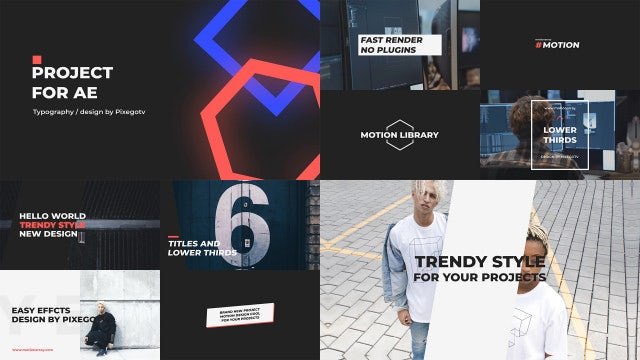 Typography / Titles Pack: After Effects Templates