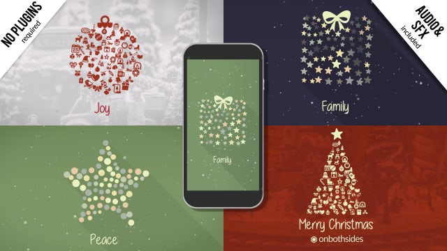 Christmas Symbols: After Effects Templates