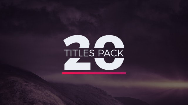 20 Titles Pack: Motion Graphics Templates
