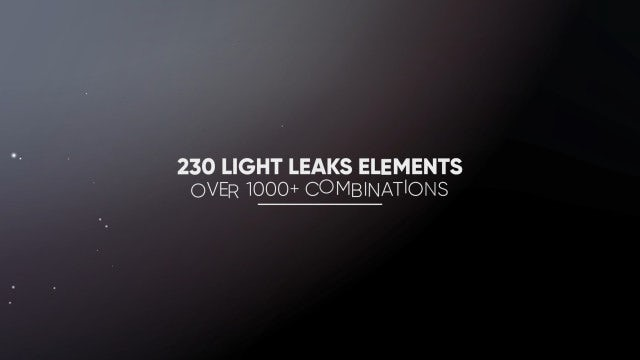 Light Leaks Constructor - 230 Elements: Motion Graphics Templates