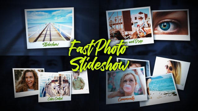 Fast Photo Slideshow: After Effects Templates