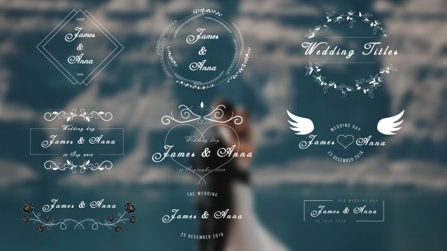 Wedding Titles: Motion Graphics Templates