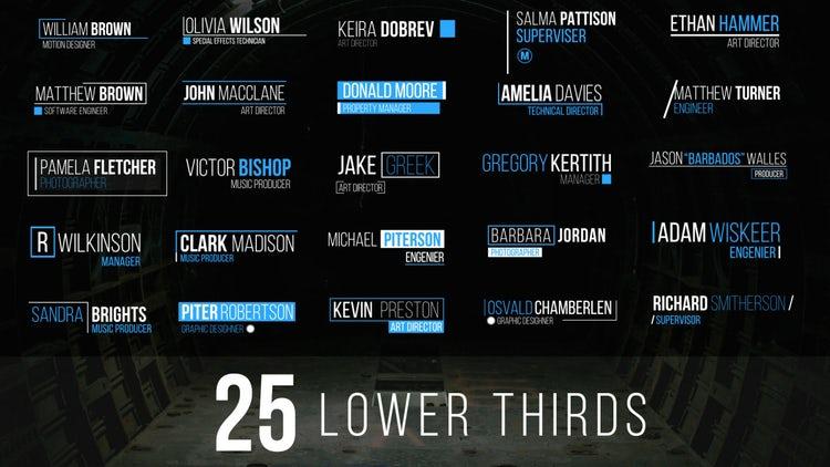25 Lower Thirds: Premiere Pro Templates