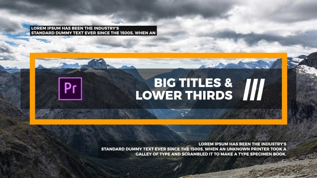 Big Titles & Lower Thirds III: Motion Graphics Templates