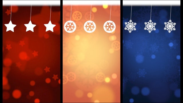 Christmas Background Swinging Decor Collection: Stock Motion Graphics