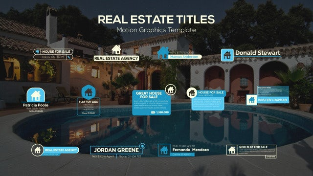 Real Estate Titles: Motion Graphics Templates