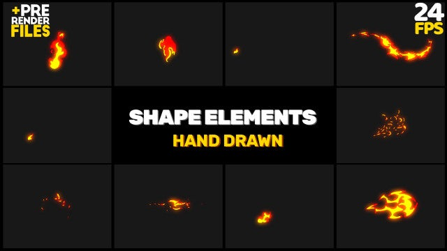 10-Piece Fire Elements Pack: Stock Motion Graphics